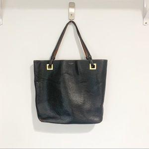 Vintage Kate Spade Black Leather Tote Bag Purse